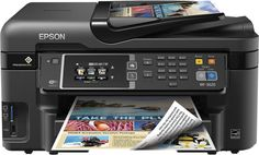 Epson WorkForce Color Inkjet All-in-One Printer Printer Types, Hp Printer, Laser Printer, Best Inkjet Printer, Printer Driver, Wireless Lan, Mac Os, Office Phone, Cool Things To Buy