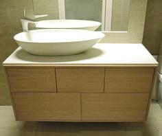Durat Vati basin and a custom top. Colour 910. Interior design: Fanni Tuomaala Private residence, Finland