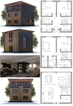 Container House - Small House Plan - Who Else Wants Simple Step-By-Step Plans To Design And Build A Container Home From Scratch? Small Modern House Plans, Small House Plans, House Floor Plans, Residential Architecture, Architecture Design, Plans Architecture, Casas Containers, Building A House, Villa