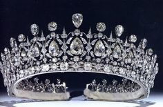 Fife Diamond Spike Tiara. Given to Princess Louise (daughter of King Edward VII and Queen Alexandra) on her marriage by her husband the Duke of Fife.