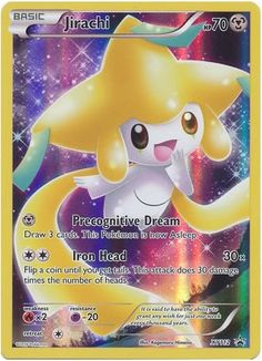 Jirachi XY112 Pokemon TCG: XY Black Star Promo Card, Full Art Holo Pokemon Card