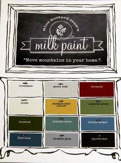Miss Mustard Seed Milk Paint. $22.00, via Etsy.
