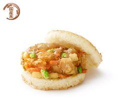 Mos rice burger with seafood tempura  @モスライスバーガー 海鮮かきあげ(塩だれ)