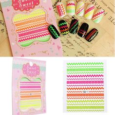 New Fashion 3D Colorful Nail Art Foil Tips Polish Stickers Watermark Decal DIY Tools Decoration Manicure Accessories-in Stickers & Decals from Health & Beauty on Aliexpress.com   Alibaba Group