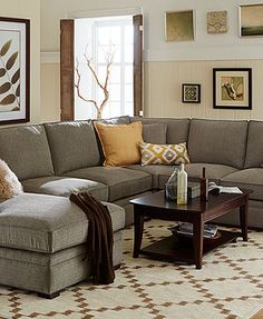 Driscoll Fabric Sectional Sofa Living Room Furniture Collection : lane megan sectional - Sectionals, Sofas & Couches