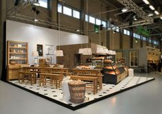 Hiestand bakery fair stand. Concept, design and manufacturing by konform. Basel, 2013