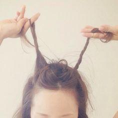 ☆大人の簡単ゆるおだんご、作り方!☆ | 田中亜希子オフィシャルブログ Powered by Ameba Pastel Pink, Pink Purple, Eyeliner Tape, Green And Grey, Hair Beauty, Hairstyle, Iphone, Friends, Hair Job