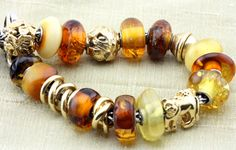 Amber and Gold - a bracelet I had for a short time!   http://www.trollbeadsgallery.com/