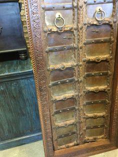 Antique Jharokha Doors BARNDOOR Hand Carved Teak Door with