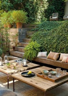 Grote tuin inrichten met knusse zitkuil