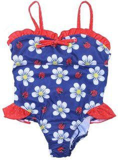 NWT Pink Platinum Baby Girls/' Ruffled Polka Dot Cherries Bikini Swimsuit 18M 12M