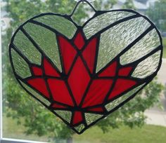 Canadian Maple leaf stained glass