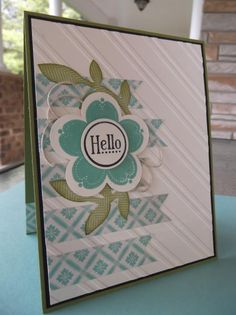 A Posy Hello~ by stampin'nana - Cards and Paper Crafts at Splitcoaststampers