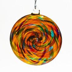 Blown Glass Spiral Disk Ornament