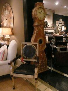 Swedish Mora clock in the shop of Dan Marty Design (DMD.)