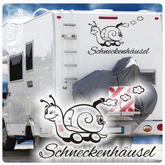 WoMo015 Schneckenhäusel Wohnmobil Aufkleber Wohnwagen Sticker