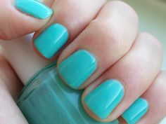 this color is on my toes right now, and i love love love it. #essie turquoise and caicos