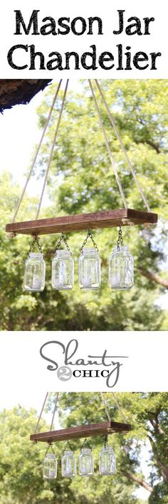 Great Creative Diy's Collection. DIY Mason Jar Chandelier CONTINUE: http://diy.livkul.com/post-1093-diy-mason-jar-chandelier.html - Creative Diys - Google+