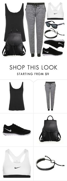 """""""Style #10278"""" by vany-alvarado ❤ liked on Polyvore featuring Topshop, NIKE, rag & bone, Ray-Ban and Links of London"""