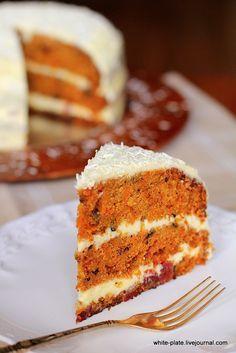 """Я уже как-то пекла морковный пирог и осталась им довольна. Еще ранней осенью записала себе в список """"хотелок"""" его первым пунктом, а тут вдруг за последнее… Bolo Cake, Cooking With Kids, Carrot Cake, Diy Food, Vanilla Cake, Cupcake Cakes, Bakery, Dessert Recipes, Food And Drink"""