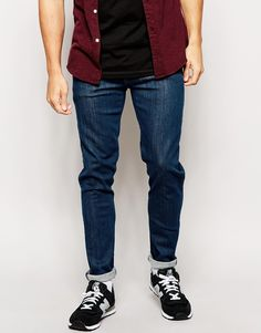 Image 1 ofASOS Skinny Jeans In Smoky Blue