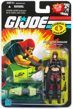 """THE """"Master of Disguise"""", Zartan. Vintage action figure from the GI Joe toy line."""