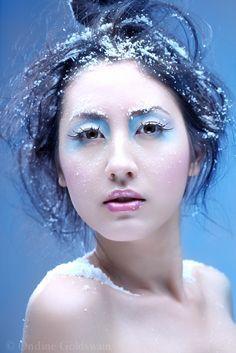 snow dress makeup - Google Search