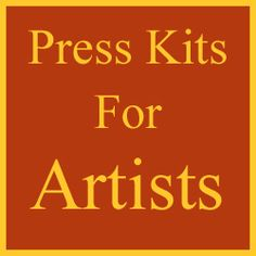 Successful artists should always have a press kit available to hand out or mail. This kit should also be accessible on their website for interested parties. Just what is a press kit and why should an artist have one? A press kit is just what it sounds like, as it is a group of documents presenting the artist's background, education, experience, past exhibitions, publishing achievements, competition awards along the artist's current and future shows, etc.