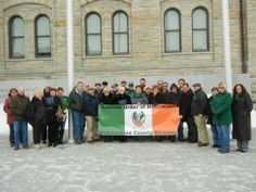 The Lackawanna County Division of the Ancient Order of Hibernians was present for the raising of the Irish Flag on Courthouse Square on Saturday, March March 1st, Division, Raising, Banners, Irish, Flag, Presents, Celebrities, Gifts