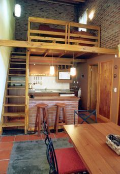👍Tiny Loft Space Saving Tips? college apartment,beds room i. 👍Tiny Loft Space Saving Tips? Tiny Loft, Small Loft, Loft Design, Tiny House Design, Design Design, Loft Spaces, Small Spaces, Loft Kitchen, Apartment Kitchen