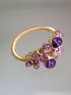 Hey, I found this really awesome Etsy listing at https://www.etsy.com/listing/215187493/amethyst-lilac-sapphire-gold-filled-wire