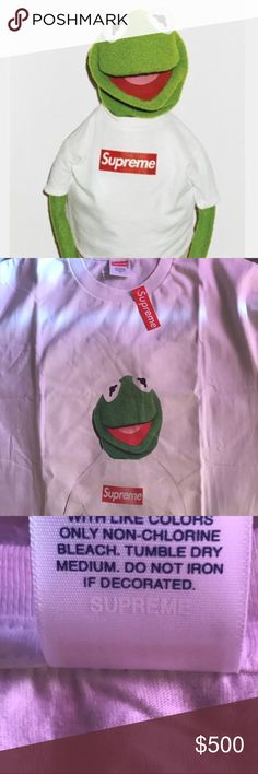 Supreme Kermit The Frog Tee🐸 100% Authentic Supreme Tee!! Comes With Stickers As Well Enjoy!!! Supreme Shirts Tees - Short Sleeve
