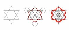 Chiesa Sant'Ivo alla sapienza - F. Borromini. Elemento di partenza: intersezione di due triangoli equilateri.
