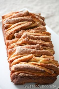 cinnamon sugar pull apart bread with cream cheese frosting dip. wow.
