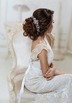 ANDROMEDA crystal bridal headpiece - wedding hair vine by TopGracia #topgraciawedding #bridalhairaccessories #weddingheadband
