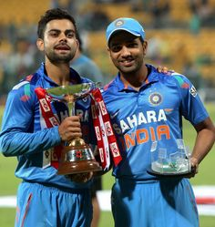 Rohit Sharma and Virat Kohli were the top run-getters for India in their 3-2 ODI series win over Australia. (PTI)