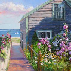 Cottage in P-town, Cape Cod, MA    Artist : Laura Lee Zanghetti