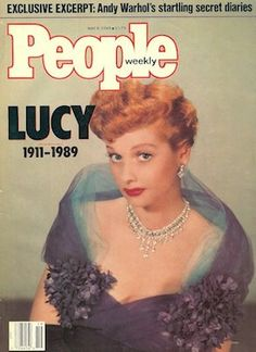 """""""People"""", May 1989 (farewell to Lucille Ball)"""