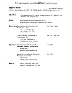Free Blank Resume Templates Resumizer Free Resume Creator Resumizer On Pinterest