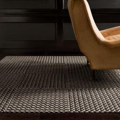 FLOR carpet tiles in DELAINE-brown/white