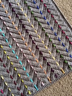 Chevron blanket with threaded color...link doesn't work but picture is still good inspiration
