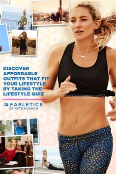 Affordable Workout Clothes by Kate Hudson called Fabletics. A Curated Collection of Activewear that is a Buy Now and Wear Forever. Discover outfits that fit your Lifestyle by taking our Lifestyle quiz!