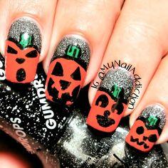 halloween by mynailaddiction #nail #nails #nailart