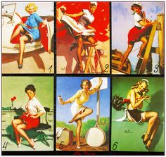 """Carte postale style rétro vintage women pin up """"modéle 1"""" x1 : Papeterie, carterie par lilycherry"""