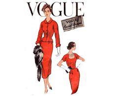 50s RARE Sheath Dress & Jacket Pattern by allthepreciousthings