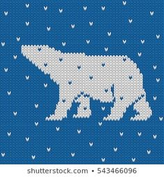 Стоковая векторная графика «Knitted Winter Blue Seamless Pattern Polar» (без лицензионных платежей), 543339103 Polar Bear Cartoon, Cute Polar Bear, Cute Bears, Polar Bear Christmas, A Christmas Story, New Year Cartoon, Balloon Cartoon, Fair Isle Chart, Bear Character