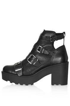 3a7dc818e75f1 See this and similar Topshop ankle booties - Hi shine black leather chunky  ankle boots with