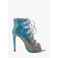 Sandały Dark Sky Blue Snake Heeled Sandals