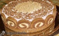 Érdekel a receptje? Hungarian Desserts, Hungarian Cake, Hungarian Recipes, Croatian Recipes, Chestnut Cake Recipe, Cupcake Recipes, Cookie Recipes, Cake Slicer, Waffle Cake