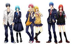 Fairy+Tail+Lucy+And+Gray   ... Lucy Heartfilia, Natsu Dragneel de la série Fairy Tail dessinée par